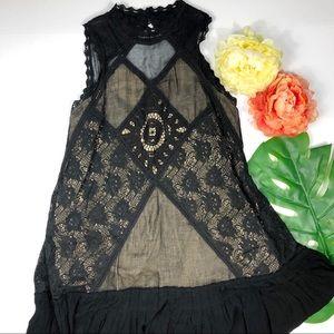 Free People black Angel lace dress small bogo